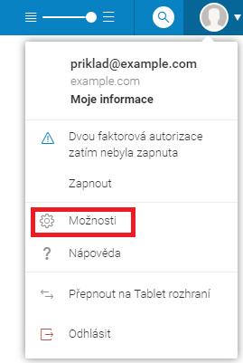 Nastavení webmailu icewarp